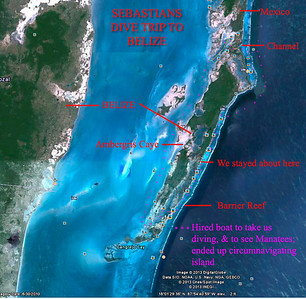 Google Earth Map of Ambergris Caye