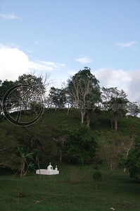 This is what I assume a small family cemetery plot would be. I love the fact that it is in a pasture with cows and horses. So even though the family members (or member) who are buried there are no longer here, they are still here.  They are still a part of daily life. Literally a part of the farm. San Ignacio, Belize.
