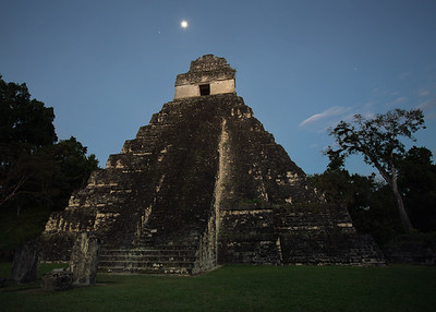 Templo Uno by moonlight, Tikal Guatemala