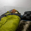 A nice all weather sleeping bag is the way to go... nice and cozy for a good night's sleep. Quebec Winter Carnival is tomorrow.