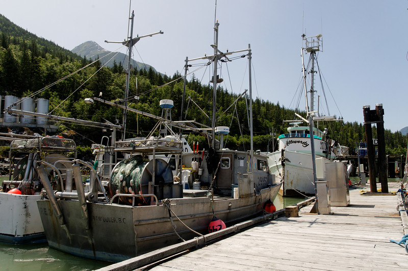 Fishing boats in Bella Coola, BC.