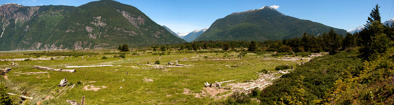 Bella Coola Valley, looking north northeast.