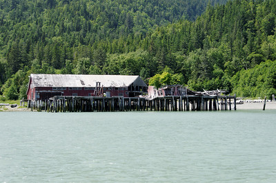 Closer view of the Cannery's outer wharf, now ruined.