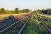Canadian National Railways tracks head into Belleville.