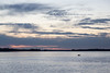 Lone kayaker heads out on the Bay of Quinte before sunrise.