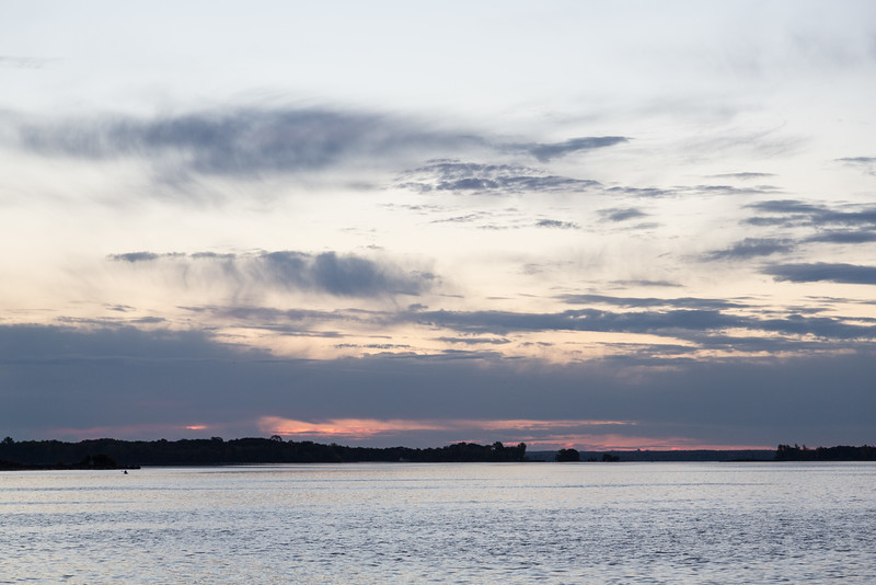 View across the Bay of Quinte from the foot of Herchimer Avenue in Belleville before sunrise.