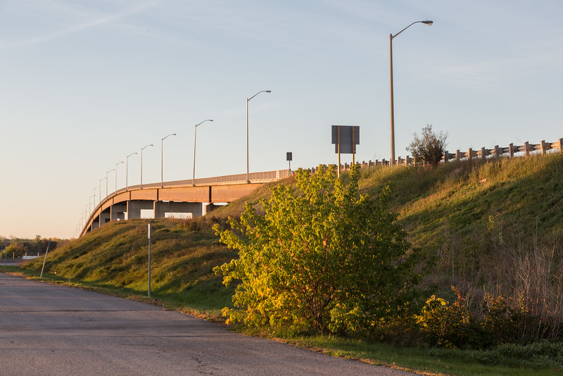 Norris Whitney bridge over the Bay of Quinte from East Zwicks Park in Belleville.