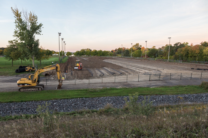 West Zwicks Park playing fields renovations including drainage.