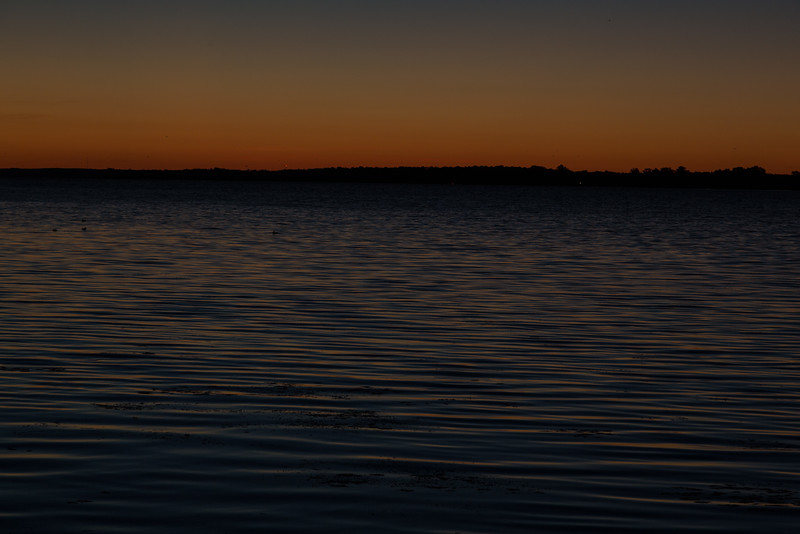 Sky before sunrise looking across the Bay of Quinte from Belleville. HDR sequene shot. DARK shot.
