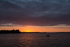 Dark clouds at sunrise over the Bay of Quinte.