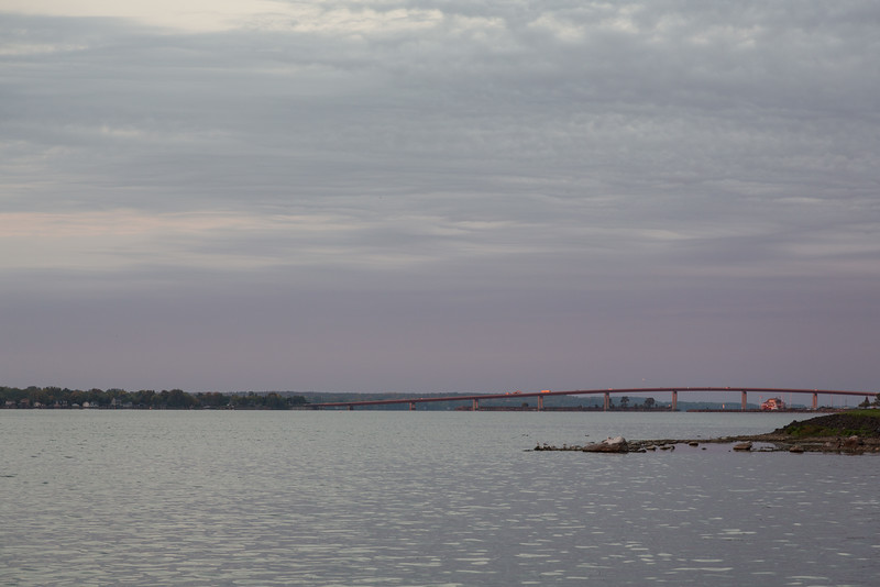 Looking down the Bay of Quinte at sunrise.