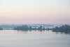 Low fog on the south shore of the Bay of Quinte before sunrise.