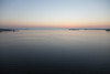 Looking down the Bay of Quinte before sunrise. Wide view.