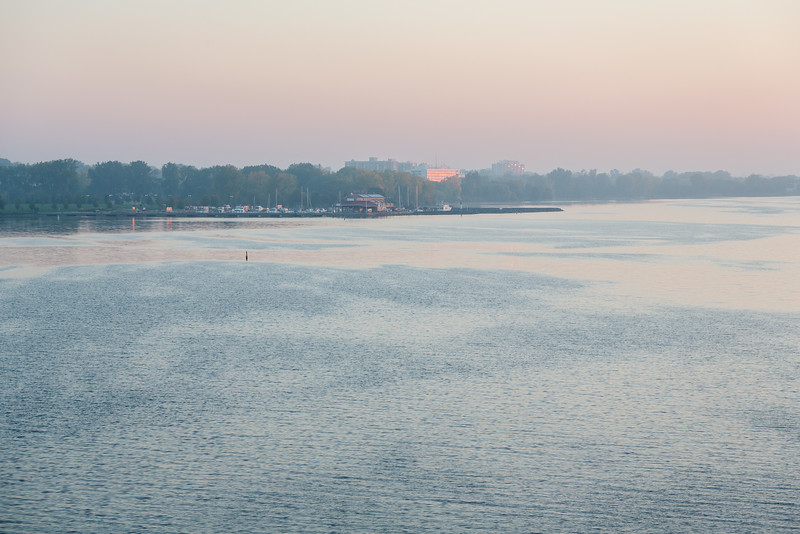 North shore of the Bay of Quinte just after sunrise.