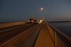 Walking up the Norris Whitney bridge before sunrise.