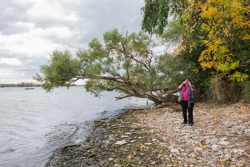 Denise Lantz at Massassauga Point Conservation Area.