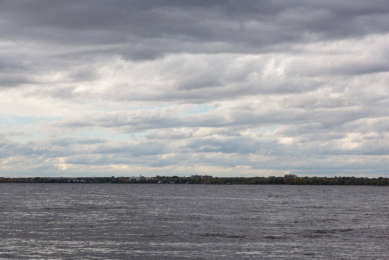 Looking towards Belleville from Massassauga Point Conservation Area.