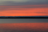 Sky reflected in the water of the Bay of Quinte before sunrise.