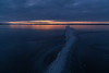 Wide angle shot of ice on the Bay of Quinte before sunrise.