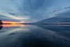 Wide view looking down the Bay of Quinte from Belleville Ontario before sunrise 2018 April 13th.