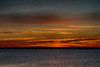 Sky just before sunrise across the Bay of Quinte from Belleville Ontario 2018 November 11. HDR efx dark.