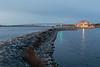 Meyers Pier in Belleville Ontario before sunrise 2018 November 11.