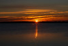 Sunrise across the Bay of Quinte from Belleville Ontario 2018 November 11.