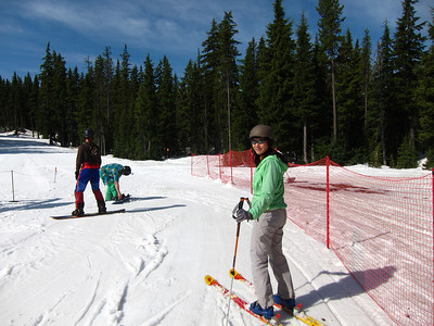 Spring skiing at Mt. Bachelor