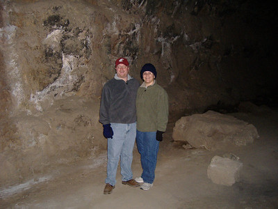 Josh and Laura inside Skeleton Cave