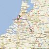 Trip to Benelux, 2012, maps<br /> 5th day: NH Hotel, Best, Netherlands to Leiden and to Delft, Netherlands