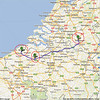 Trip to Benelux, 2012, maps<br /> 3rd day: NH Hotel, Best, Netherlands to Gent and to Brugge, Belgium