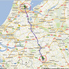 Trip to Benelux, 2012, maps<br /> 2nd day: NH Hotel, Best, Netherlands to Amsterdam, Netherlands