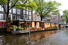 Along the canals of Amsterdam were many unique house boats. I would love to try living in one.<br /> _MG_7323