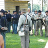 Confederate and Union soldiers at Bentonville.