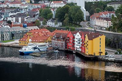 Builings in port of Bergen