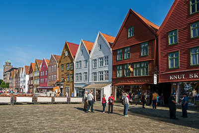 Old wharf buildings in Bergen