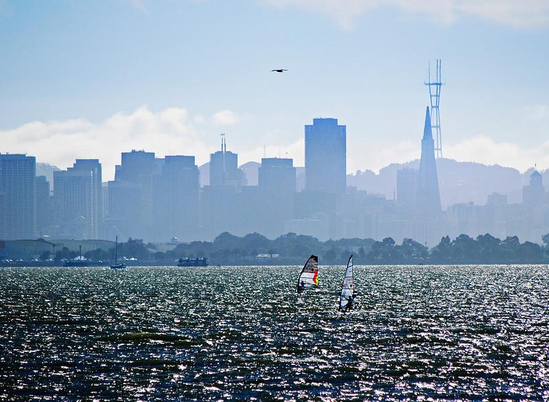 San Francisco skyline.