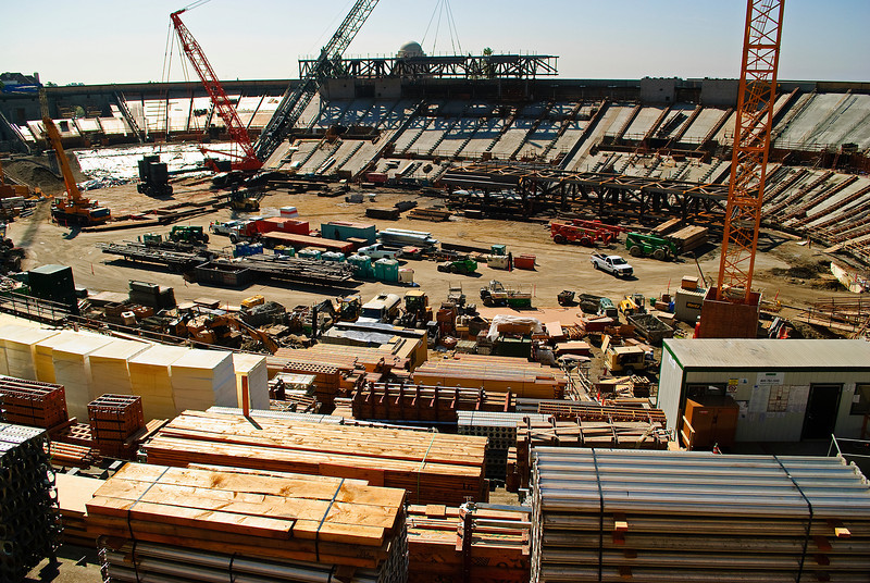Construction at Cal Berkeley stadium