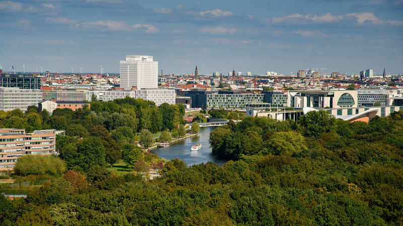 View from Siegessaule of Berlin
