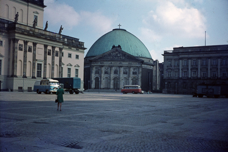 "The square in front of the library of the Humbolt University: the site of the famous ""Burning of the Books"" in 1936."