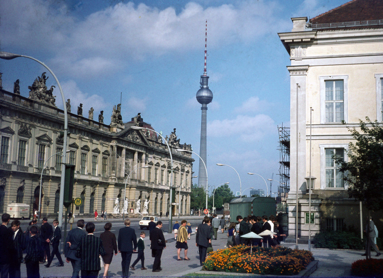 The German Historical Museum (DHM - at least that is what it now is), the Crown Prince Palace, the TV Tower and a crowd of English schoolboys. East Berlin 1969