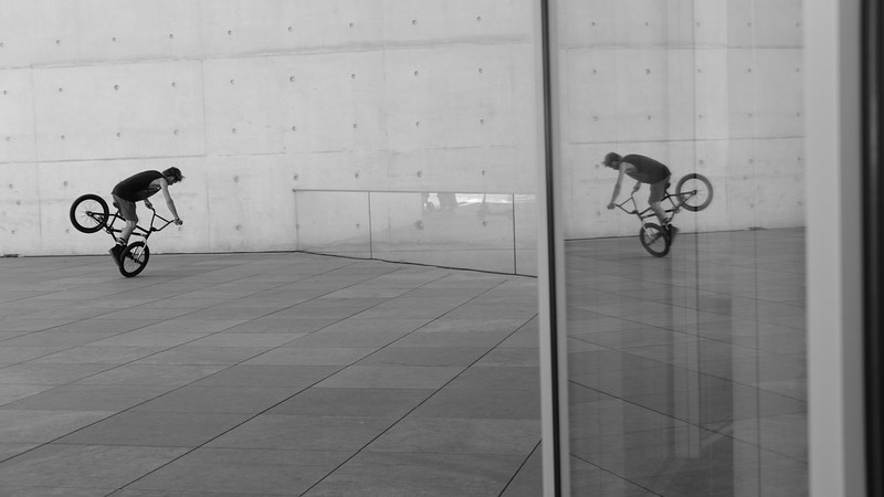 Playing with reflections near the Chancellery.