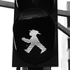 "Ah, the Ampelmannchen, or ""little traffic light man.""  Once only found in East Berlin during the Cold War era, they're so popular that they're starting to show up in West Berlin, too!  There's even a shop..."