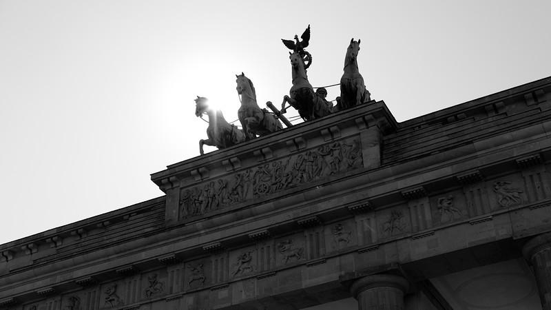 "Brandenburg Gate, where in 1987, Ronald Regan stood and said, ""Mr. Gorbachev, tear down this wall!"""