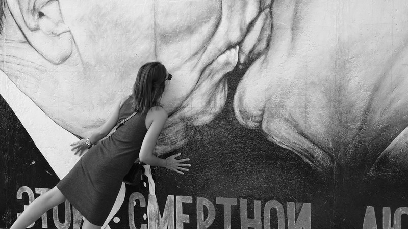 I returned to the East Side Gallery section of the Berlin Wall another time, to see what I didn't see the first time (and to people-watch, of course).