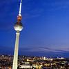Blue hour in Berlin.