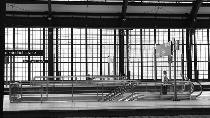 Quiet times at the train station.