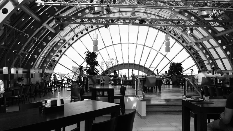 The restaurant on the top level of the KaDeWe Department Store.