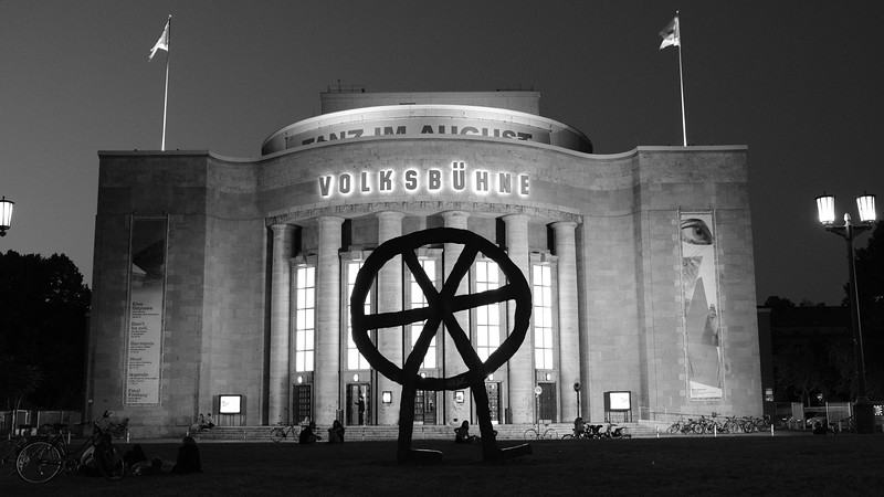 The iconic Volksbuhne Theater in the center of Berlin.