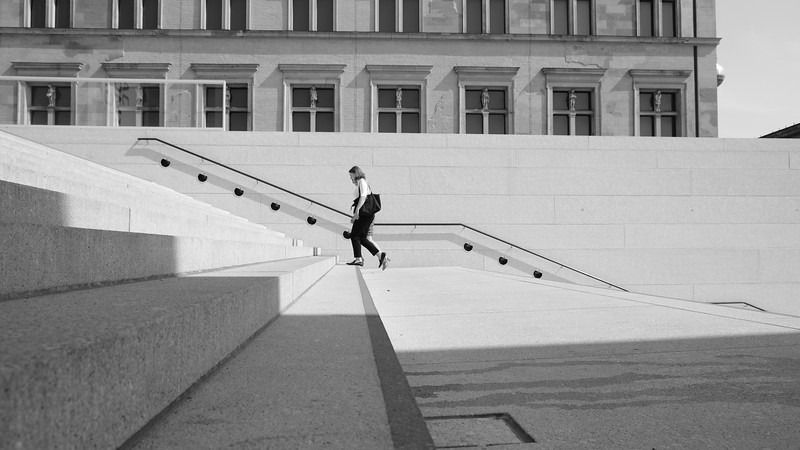 More minimalist photography on Museum Island in Central Berlin.